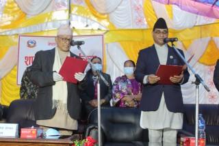 लुम्बिनी प्रदेशका नवनियुक्त मुख्यमन्त्री केसीद्वारा पद तथा गोपनीयताको सपथ
